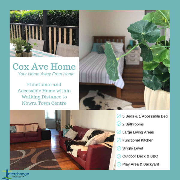 Cox Ave Respite Home Available for Short Term Accommodation